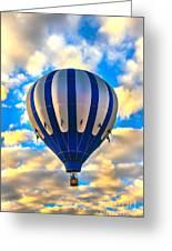 Beautiful Blue Hot Air Balloon Greeting Card