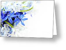 Beautiful Blue White Flower Greeting Card