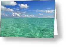 Beautiful Bora Bora Green Water And Blue Sky Greeting Card