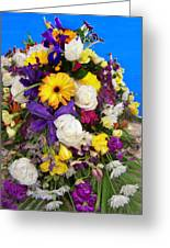 Beautiful Bouquet Of Flowers Greeting Card