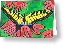 Tiger Swallowtail Butterfly Greeting Card by Raqul Chaupiz