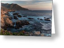 Beautiful California Coast In Spring Greeting Card