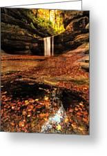 Beautiful Canyon And Waterfall Greeting Card