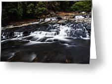 Beautiful Cascade In Western Ghats In Karnataka India Greeting Card