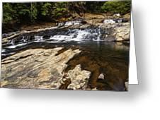 Beautiful Cascade In Western Ghats Karnataka India Greeting Card