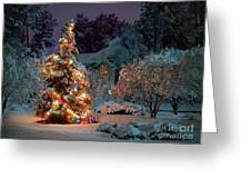 Beautiful Christmas Tree Lights Greeting Card