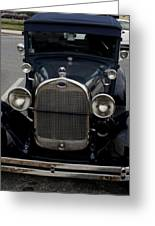 Beautiful Classic Car Front View Greeting Card