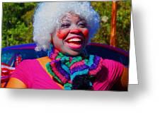 Beautiful Clown Greeting Card by Annette Allman