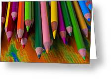 Beautiful Colored Pencils Greeting Card