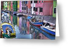 Beautiful Colors Of Burano Greeting Card