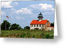 Beautiful Day At East Point Lighthouse  Greeting Card