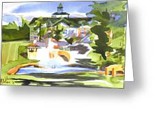 Beautiful Day At The Baptist Home Of The Ozarks In Watercolor Greeting Card by Kip DeVore