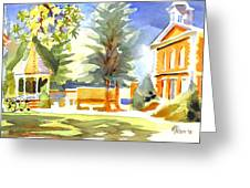 Beautiful Day On The Courthouse Square Greeting Card