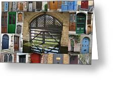 Beautiful Doors In London France And Belgium Greeting Card by Cathy Jacobs