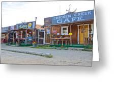 Beautiful Downtown Chicken-alaska Greeting Card