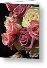 Beautiful Dramatic Roses Greeting Card
