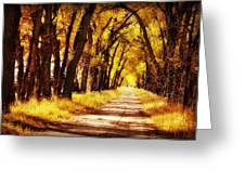 Beautiful Fall Day In Nebraska Greeting Card