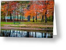 Beautiful Fall Foliage In New Hampshire Greeting Card