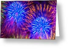 Beautiful Fireworks 10 Greeting Card