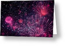 Beautiful Fireworks 12 Greeting Card