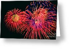 Beautiful Fireworks 14 Greeting Card
