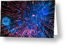 Beautiful Fireworks  2 Greeting Card