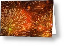 Beautiful Fireworks 4 Greeting Card