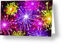 Beautiful Fireworks  6 Greeting Card