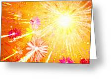 Beautiful Fireworks Greeting Card
