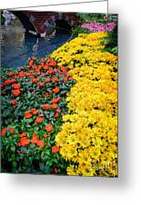 Beautiful Flower Garden Bellagio Las Vegas Greeting Card