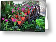 Beautiful Flower Wagon Greeting Card
