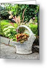Beautiful Flowers In Basket Greeting Card