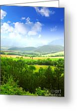 Beautiful Greens Landscape Greeting Card by Boon Mee