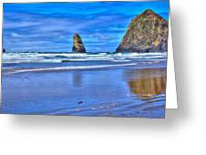 Beautiful Haystack Rock And The Needles Greeting Card