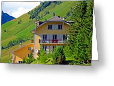 Beautiful House In Mont Blanc Greeting Card