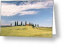 Beautiful House In Val D'orcia - Tuscany - Italy Greeting Card