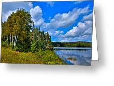 Beautiful Lake Abanakee - Indian Lake New York Greeting Card by David Patterson