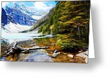 Beautiful Lake Agnes Greeting Card