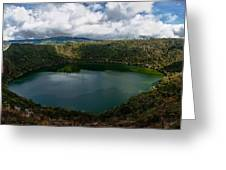 Beautiful Lake Guatavita Greeting Card