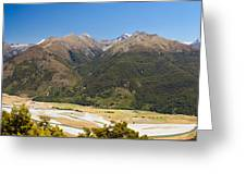 Beautiful Makarora Valley On South Island Of Nz Greeting Card