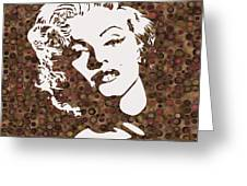Beautiful Marilyn Monroe Digital Artwork Greeting Card