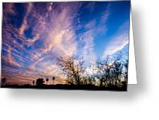 Beautiful Morning Sunrise Clouds Across The Sky Greeting Card