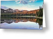 Beautiful Mountain Reflection Greeting Card by Robert Bales