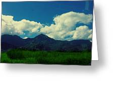 Beautiful Mountain White Could.. Blue Sky Greeting Card