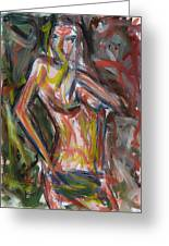 Beautiful Nude Young Woman Greeting Card