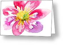 Beautiful Pink Flower Greeting Card