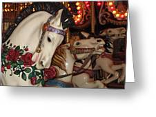 Beautiful Ponies Rwp Carousel Greeting Card