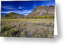 Beautiful Ranch In The Fall Greeting Card