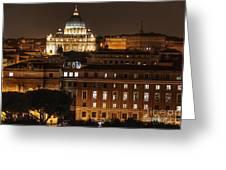 Beautiful Roman Night  Greeting Card