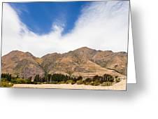 Beautiful Roys Peak Near Wanaka In Southern Alps Of New Zealand Greeting Card